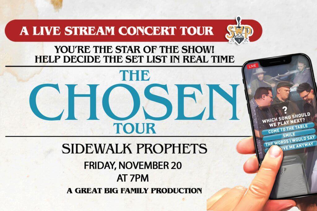 "Sidewalk Prophtets' ""The Chosen Tour"" poster"