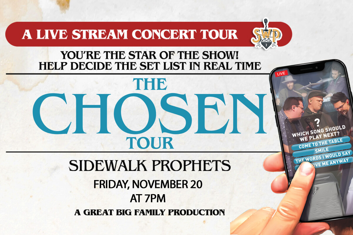 "Sidewalk Prophtets' ""The Chosen Tour"" poster"