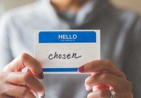nametag with chosen as name
