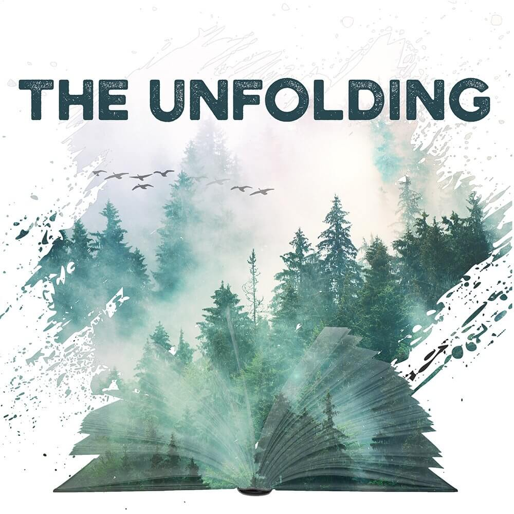 the unfolding podcast logo meridith